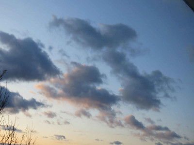 clouds at sunset, March 30, 2018