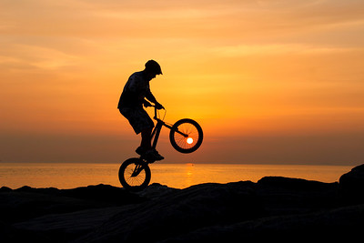 Stunt at Sunset