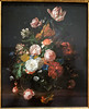 One of the few paintings you'll see from this time period by a female artist, this is Still Life with Flowers (1709) by Rachel Ruysch. She and her husband, Juriaen Pool, were court painters for Johann Wilhelm II in Dusseldorf from 1709-1713.