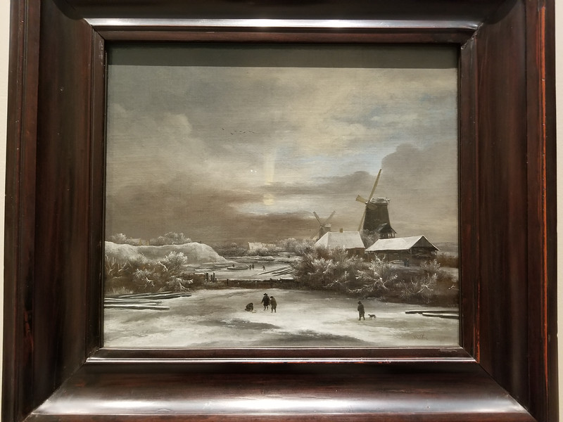 Liked this winter scene by Jacob van Ruisdael