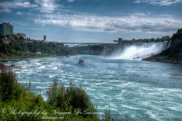 View of Rainbow Bridge and American Falls