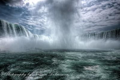 Power of the Niagara Falls.  Within the Horseshoe