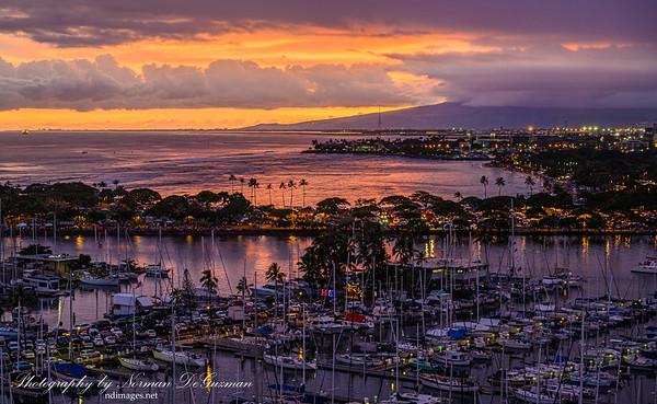 Waikiki at dusk