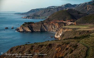 California Coast Shoreline Cliffs