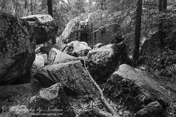 Rocks on Vernal Falls trail