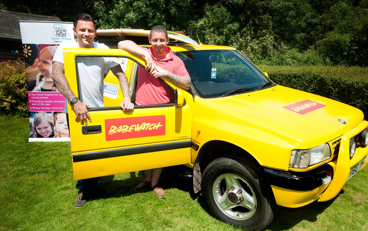 Euro Bound - Jason Donohue (left) and Ben Farrelly, who are off on a rally aournd Europe to raise money for Naomi House in their £500 car. 3rd July, 2016 - Picture Andy Brooks