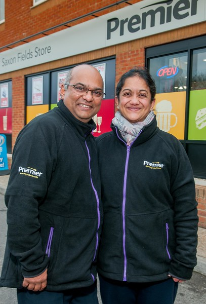 Saxon Fields Store's owners Mayur and Nilam Patel open for business. Pic Andy Brooks - 3rd December, 2016.