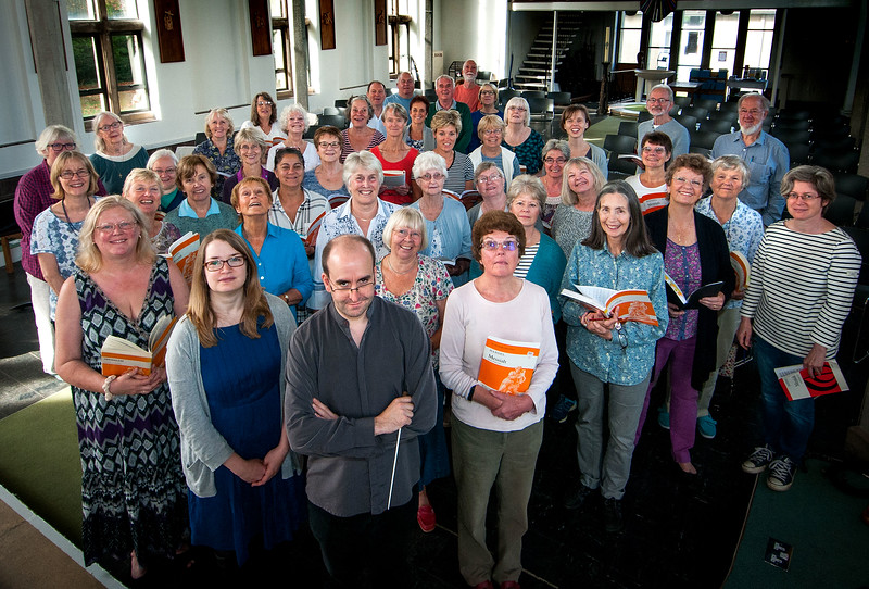 Members of Andover Choral Society who gathered for their workshop at St Micheal and All Angels Church in Andover. 24th September, 2016. - Picture Andy Brooks