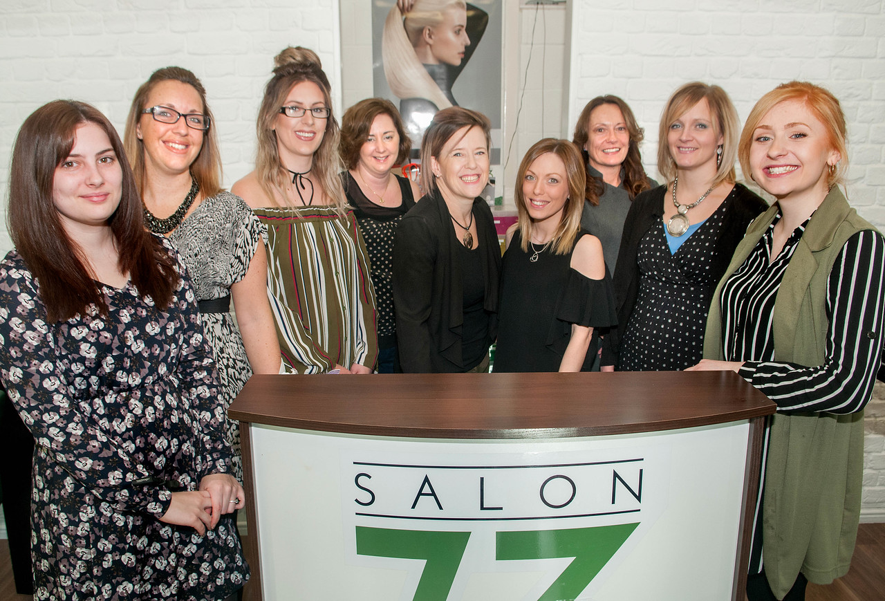 The Staff of Salon 73 at Basepoint in Andover. 21-01-2017 - Picture Andy Brooks