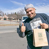 Local Roots opened on Wednesday and had its customers  pre order what they wanted so that it was ready for the customer when they got to the shop. They also only let three customer in at a time. Customer Jose Gonzalez of Fitchburg was all smiles after his purchase at the shop on it's first day.  SENTINEL & ENTERPRISE/JOHN LOVE