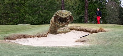 Now that's a deadly sand trap! You might need your driver...