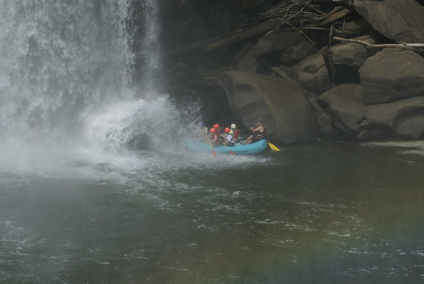 Rafting under Cumberland Falls, KY