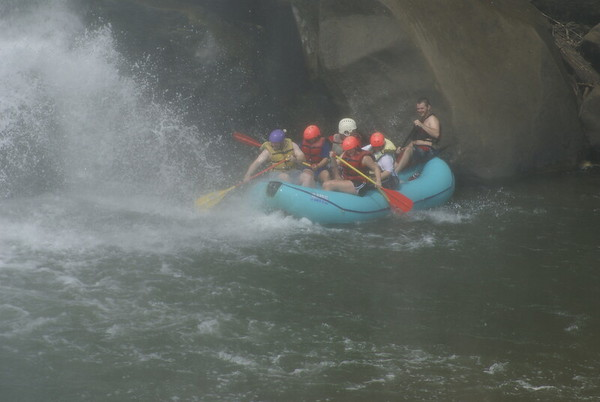 Going under the Falls