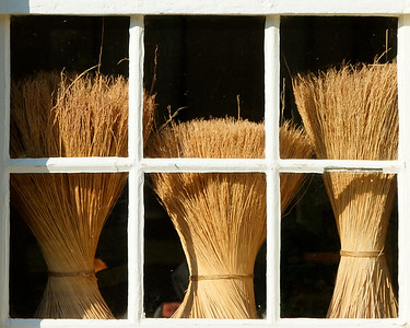 Broom Straw in Window