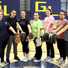 GLT softball returning veterans L-R, Haylee Mathews, Ashley Pinto, Nicole Lawler, Capt Stephanie Seymour, Jessica Lawler, Brianna Figueroa and Jessica MacFadgen. SUN/David H. Brow