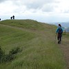 Donna on her way to the top of Bald Mountain... our motley group on the left included Tai, Judy, Joan and Anita