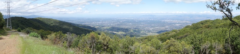 Panoramic view of San Jose from near the top