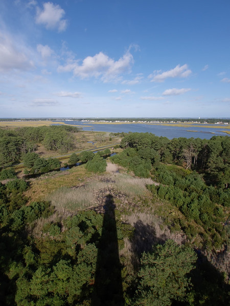 The view from the top of Assateague Light House, Chincoteague, VA