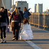 wedding photos on the Brooklyn Bridge