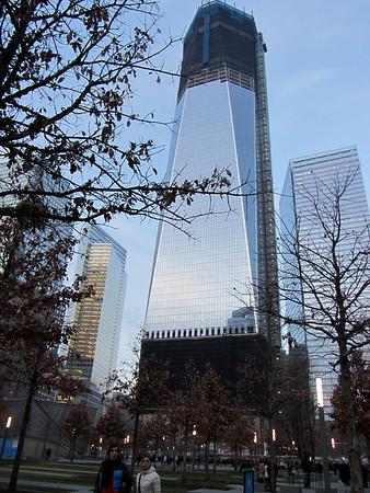 2011-12-05 visiting the World Trade Center Memorial