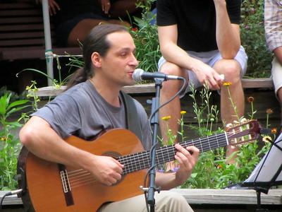 2013-07-14 Michael Walz at Westside Community Garden in NYC