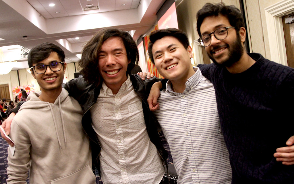 ". Members of the band ""The Alewives\"" after they played at Vietnamese Lunar New Year, L-R, Nihal Pai,21, Tony Nguyen,22, Matthew S. Park,20 and Pranav Menon. SUN/David H.Brow"