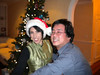 Rachel and Jeff dancing by the Christmas tree.  Gotta love that holiday swing music!