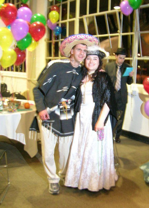 Margarita and ... Pancho Villa?!?  Margarita won best female costume.