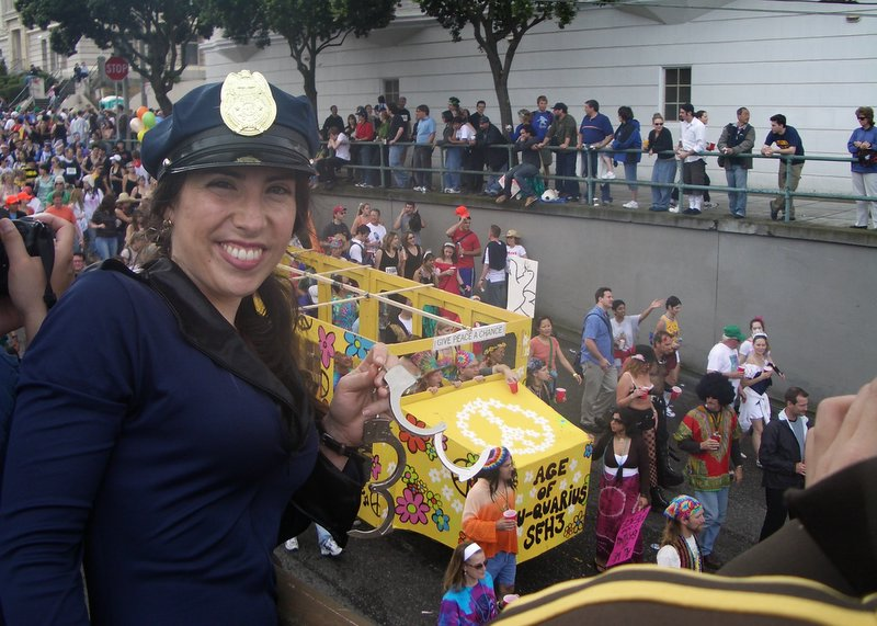 Cops and hippies don't mix!