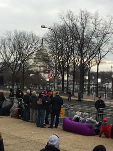 Dennis Kearns of Keego Harbor is near the U.S. Capitol, doing his best to get close to President-Elect Donald Trump's swearing-in ceremony. Photo by Dennis Kearns.