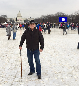 Dennis Kearns of Keego Harbor, in Washington, DC for the inauguration of Donald J. Trump.