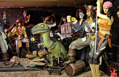 The basement is crammed with fibreglass creations like this. Perfect if you're setting up your own funfair or... what exactly?