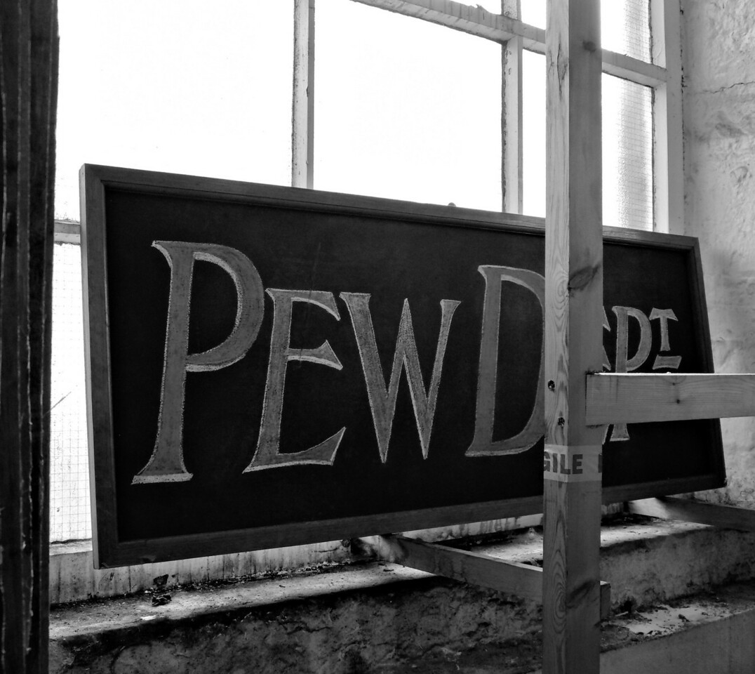 Pews for sale in the pew dept.