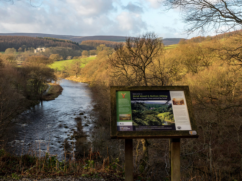 Strid Wood, Bolton Abbey, looking down the river towards Barden