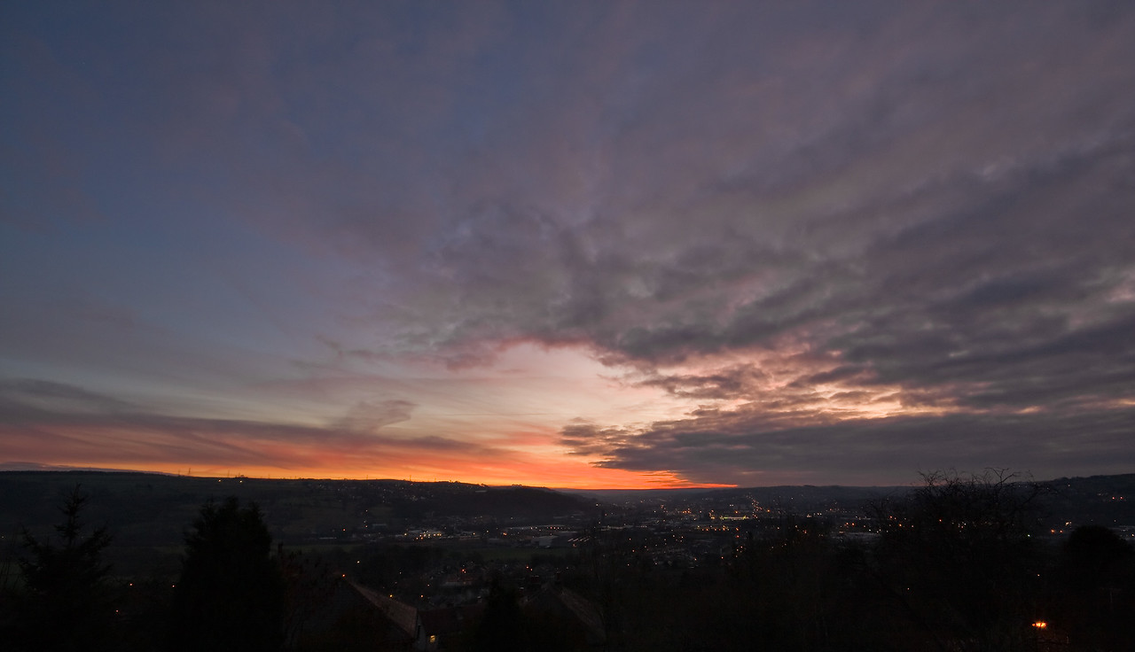 Sunset with the Sigma 10–20 lens.