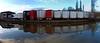 Containers alongside canal near Crossflatts