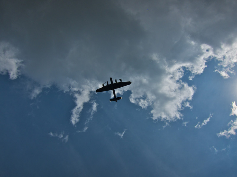 Lancaster flypast for the 2011 Bingley Show