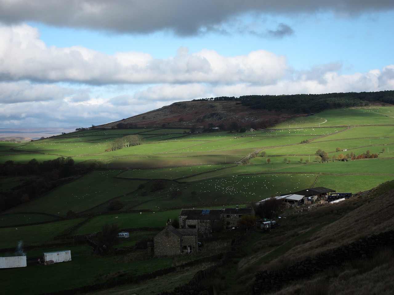 Bright November morning in 2010. Farm above Brunthwaite.