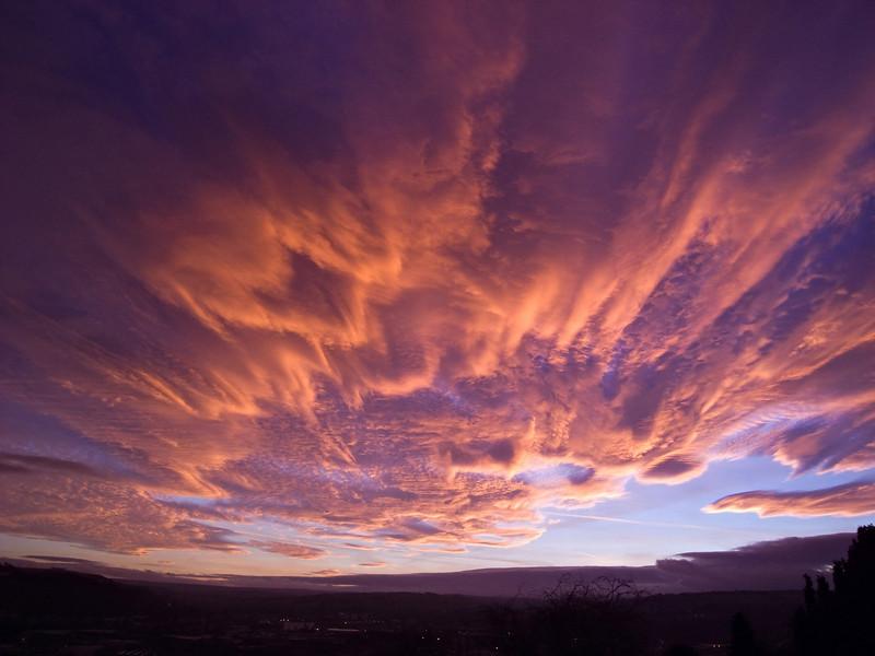 A February sky over Keighley