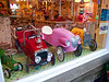 Pedal cars in Haworth shop