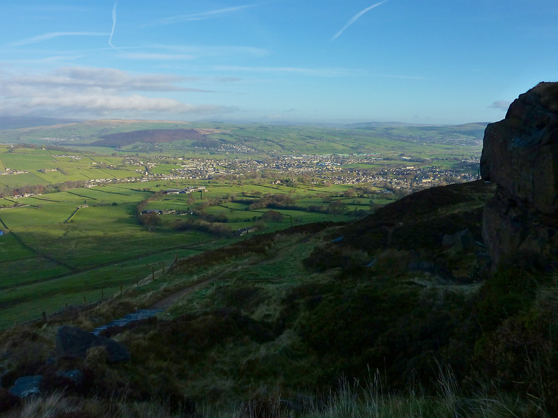 View from high above Cowling near Keighley