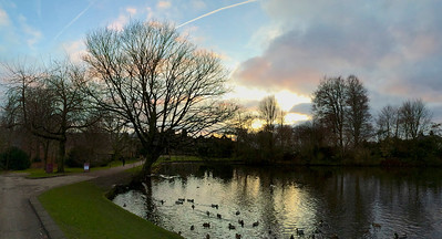 iPhone panorama on a winter day