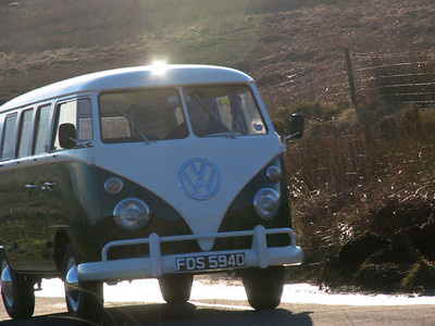 Antique VW climbs Ilkley Road to Keighley Gate