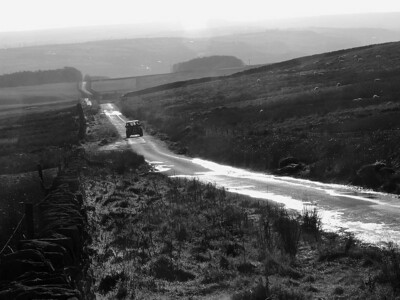 Ilkley Road, the road to Keighley Gate (from Keighley).
