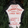 The residents of Lumbfoot declared themselves independent in the 1980s after a dispute (I don't know what over) with the residents of Stanbury. This sign still stands but I suspect the moggy population has changed.
