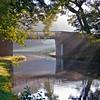 Bridge and sunbeams on the way to Silsden