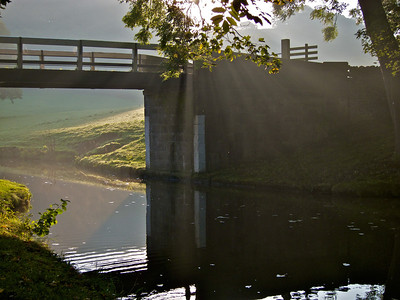 Bridge and sunbeams near Silsden