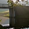 Bridge and sunbeams near Silsden