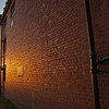 Red bricks glowing at Riddlesden