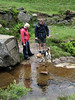 Jeanette, Paul and Jake (the dog) at Bronte Falls.